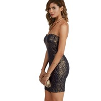 Navy Party Girl Quilted Bodycon Dress