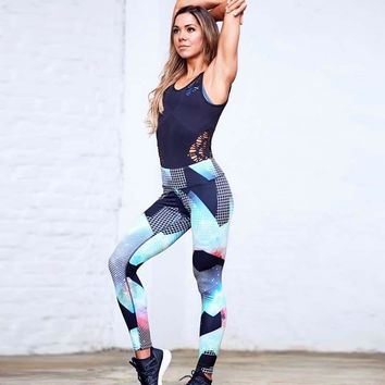 Multicolor Print Fitness Leggings