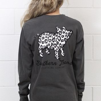 Proud Pig Snow Leopard Long Sleeve {Pepper}