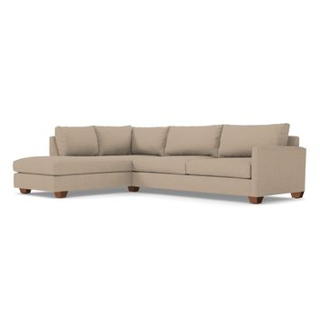 Tuxedo 2pc Sectional Sofa LAF in WOVEN BEACH - CLEARANCE