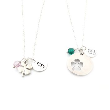 Lucky Me Best Friends Four Leaf Clover Charm Necklace Set - Best bb877b3dba