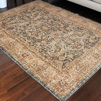 8711 Gray Rustic Oriental Area Rugs