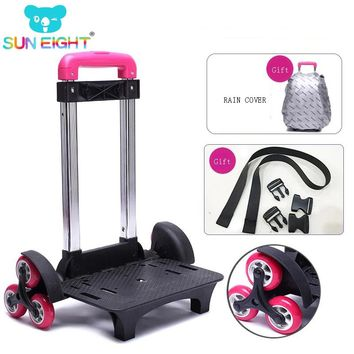 Kid Trolley For Backpack And School Bag Luggage For Children 6 Wheels Expandable Rod High Function Trolly About 1.5kg