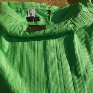 DEVERNOIS French #Apple Green #PencilSkirt Unused Tagged New Old Stock Medium Large #DEVERNOIS