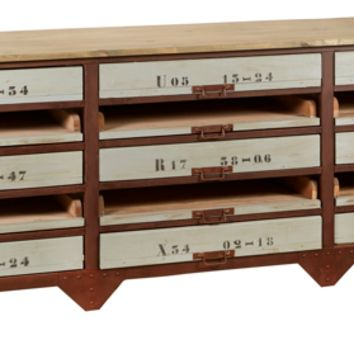 Marlis Industrial Sideboard - 15 Drawer