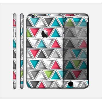 The Vibrant Colored Triangled 3d Shapes Skin for the Apple iPhone 6 Plus