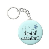 Cute Dental Assistant Keychain from Zazzle.com