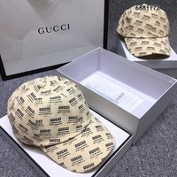 Gucci stamp print canvas baseball hat