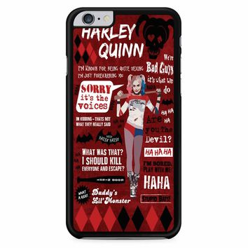 Harley Quinn Quote 2 iPhone 6 Plus / 6s Plus Case