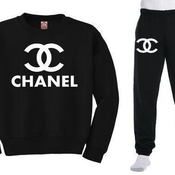 Chanel Sweatshirt + Sweatpants Combo