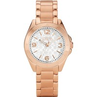 COACH Tristen Rose Gold Watch with Logo Dial, 32mm | Bloomingdale's