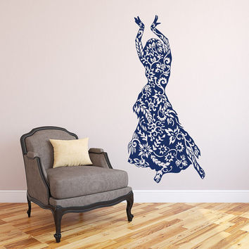Belly Dance Wall Decal Vinyl Sticker Decals Belly Dancing Wall Decals Girls Wall Decor Dance Studio Decor Art T182