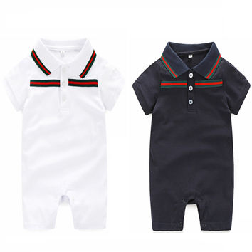 Baby Rompers brand 0-24 months Newborn Baby boy Clothes and hat Summer Baby rompers set clothing Suits Baby clothing
