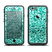 The Aqua Green Glimmer Apple iPhone 6 LifeProof Fre Case Skin Set