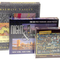 Lot 3 Jigsaw Puzzles Yosemite Valley New York Philadelphia Puzzle Eric Dowdle
