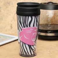 Carolina Panthers 16oz. Zebra Acrylic Tumbler with Lid