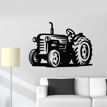 Vinyl Wall Decal Tractor Farm Farmer Kids Room Art Decor Stickers Mural Unique Gift (ig5112)