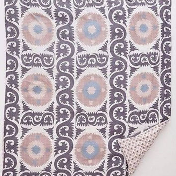 Anthropologie Yalova Suzani FULL Duvet Cover 2 Euro & 2 Standard Shams - 5 Piece