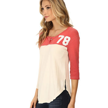 Free People Super Cycle Jersey Number Graphic Mineral Red Combo - 6pm.com