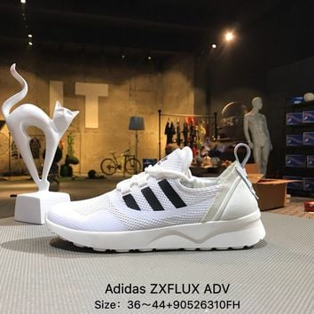 ADIDAS ZX FLUX ADV White Black Sports Running Shoes Sneaker - BB2286
