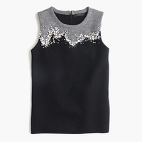 J.Crew Womens Collection Embellished Shell Sweater