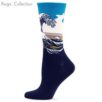 Men / Male Classic Painting Collection Katsushika Hokusai The Great Wave off Kanagawa Artwork Casual Art Crew Socks
