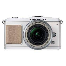 Olympus PEN E-P1 12.3 MP Micro Four Thirds Interchangeable Lens Digital Camera with 14-42mm f/3.5-5.6 Zuiko Digital Zoom Lens (White Body/Silver Lens)