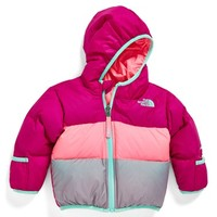 The North Face Infant Girl's 'Moondoggy' Reversible Down Jacket,