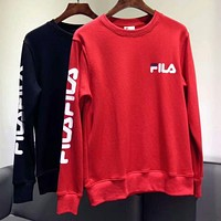 FILA Women's Round Neck Lettered Turtleneck Sweater F-AG-CLWM