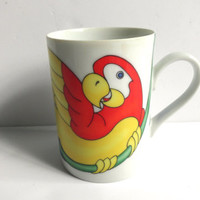 Parrot Mug Fitz and Floyd Parrot In Ring Collection