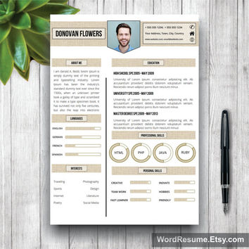 Resume Template & Cover Letter, CV Template, Professional Creative  Resume, Instant Download Curriculum Vitae, Teacher CV