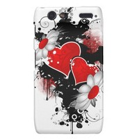 Grungy Hearts and Daisies Motorola Droid RAZR Cases from Zazzle.com