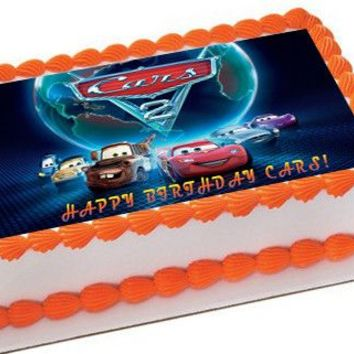 CARS 5 Edible Cake Topper OR Cupcake Topper