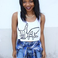 LA crop top | THEDAYZE