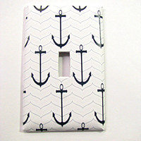 Light Switch Cover - Light Switch Plate Anchors Nautical