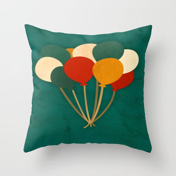 Balloons  Throw Pillow by Laura Santeler | Society6
