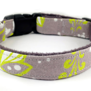 Soft Flannel Butterfly Print Dog Collar with by theKozieCanine