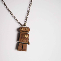 Robot with a Heart by VectorCloud on Etsy