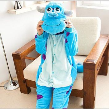DCCKU62 2017 Women's Animal Pajamas For Adults Full Sleeve Hooded Polyester Pajama Sets Animal Costume Womens Pajamas