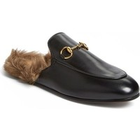 Gucci 'Princetown' Genuine Shearling Mule Loafer (Women) | Nordstrom