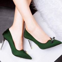 Faux Suede Pointed Toe Stiletto Heel Pumps