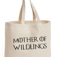 Mother of Wildlings Cotton Tote shopping ECO canvas women's Bag Game of thrones | eBay