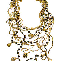 Bee Charming Black Vintage Great Gatsby Necklace - Max & Chloe