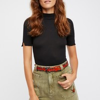 Free People Cabachon Studded Jean Belt