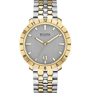 Bulova Accutron II Moonview Watch - Two-Tone Case/Bracelet - Gray Dial