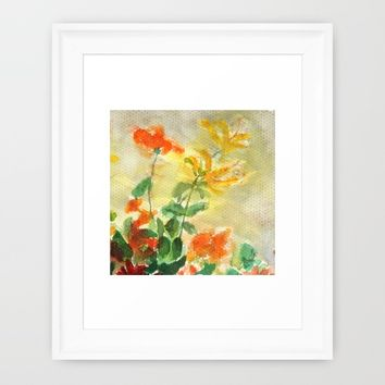 orange and yellow flowers  Framed Art Print by Color And Color