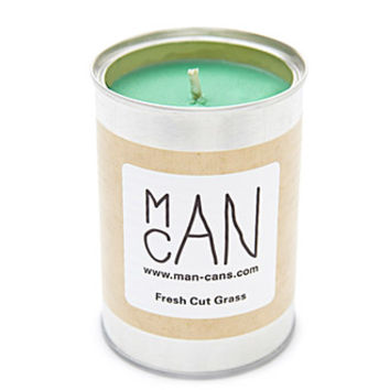 Man Can Fresh Cut Grass Candle