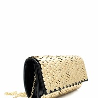 Metal Show Circle Studded Clutch