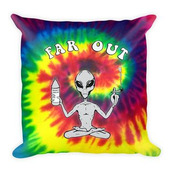 Far Out Alien (Tie Dye) Square Pillow