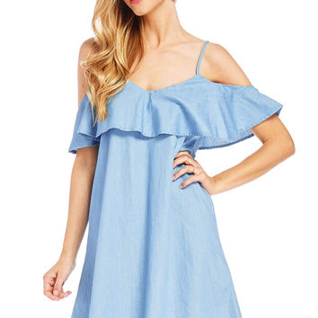Cherish Chambray Dress